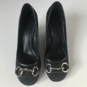 Coach Wedge Shoes Round Toe Horsebit Hardware , 8